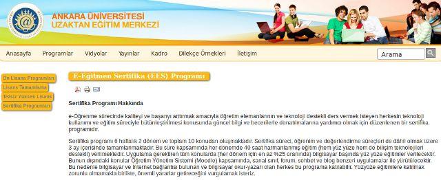 e-egitmen sertifika programı